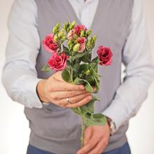 Лизиантус розовый 75см 1шт