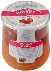 Йогурт Сэн-Флур клубника 6% жир., 140г