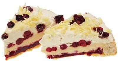 Торт брусничный с белым шоколадом 800г