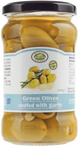 Оливки фаршированные чесноком 290г