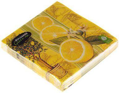 Салфетки бумажные Лимон 3-сл, 33х33см, 20шт