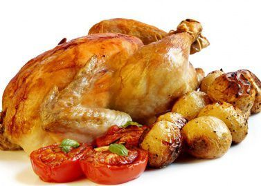 Запеченая курица с молодым картофелем