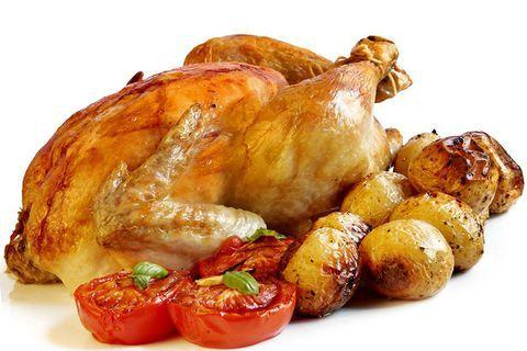 Запеченная курица с молодым картофелем