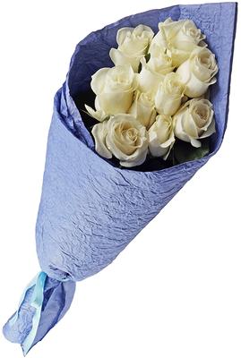 Бумага упаковочная жатая Ярко-синяя