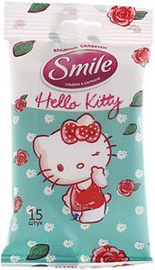 Влажные салфетки SMILE Hello Kitty