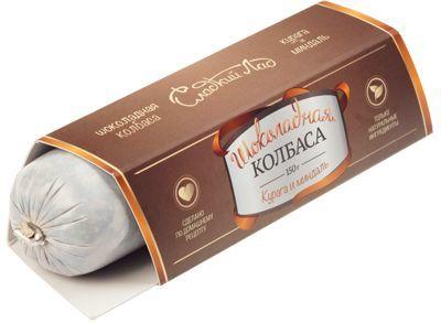 Шоколадная колбаса Курага и миндаль 150г
