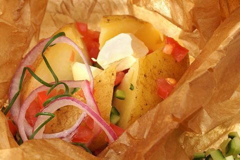 Картофель запеченый с розмарином