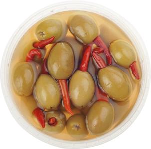 Оливки фаршированные острым перцем 270г
