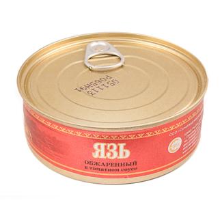 Язь обжаренный консервированный 240г