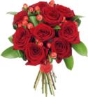 Букет №1 Розы Фридом и Гиперикум