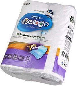 Туалетная бумага 3-слойная 6 рулонов