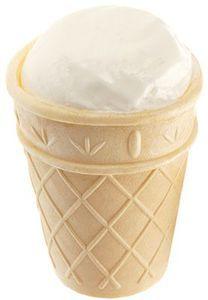 Мороженое пломбир в вафельном стаканчике 70г