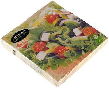 Салфетки бумажные Греческий салат 3-сл, 33х33см, 20шт