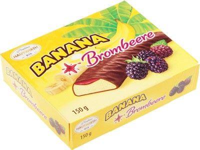 Банановое суфле с ежевичным джемом в темном шоколаде 150г