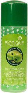 Шампунь-кондиционер с зеленым яблоком для жирных волос