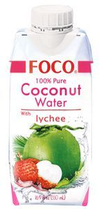 Кокосовая вода со вкусом личи 330мл