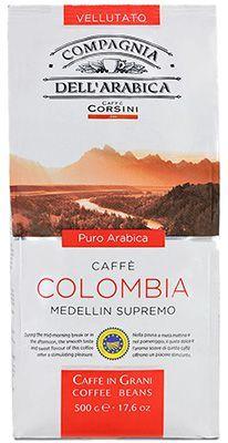 Кофе DELL'ARABICA Колумбия 500г 100% арабика, меделлин супремо, в зернах, Италия