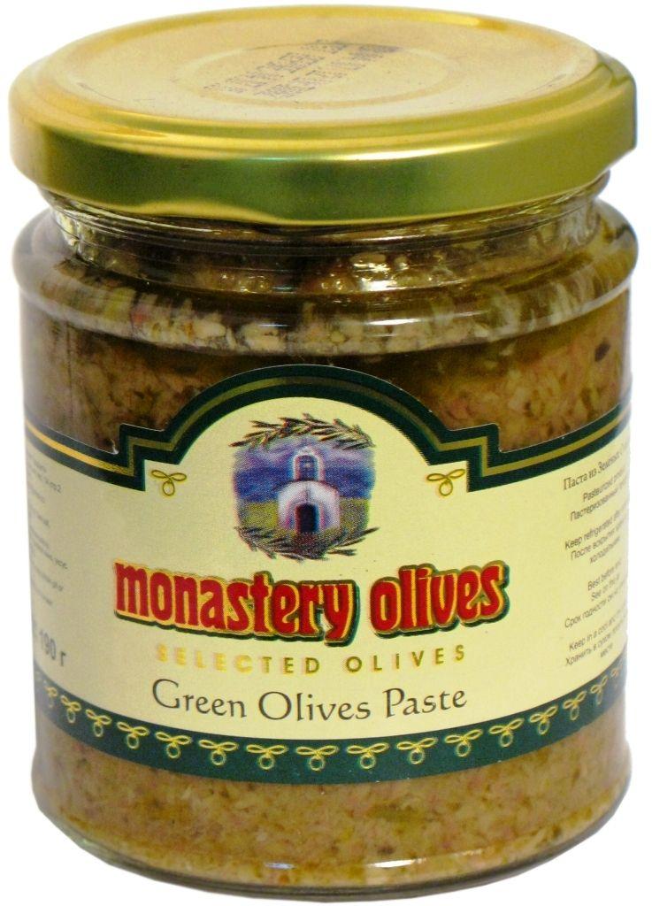 Паста из зеленых оливок, 190г Монастырские оливы
