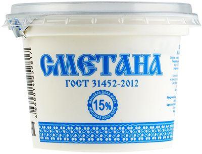 Сметана ГОСТ 15% жир., 200г Киржачский МЗ