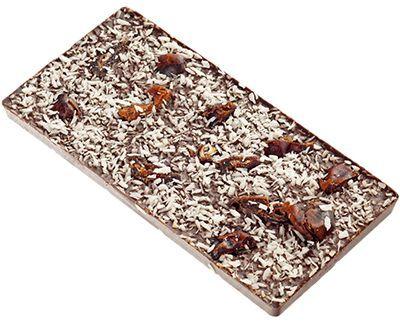 Шоколад Кокос и финики 100г Полезные сладости, ручной работы на основе кэроба