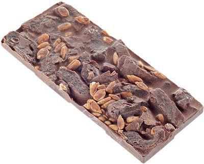 Горький шоколад Грильяж 50г Vegan food, ручной работы, без сахара