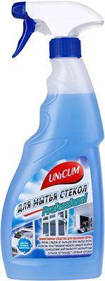 Средство для мытья стекол 500мл содержит активные наночастицы, UNICUM professional