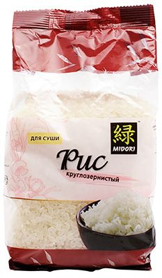 Рис для суши и роллов 450г круглозерный