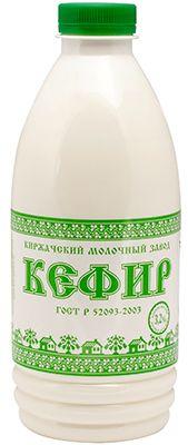 Кефир 3,2% жир., 930г Киржачский Молочный Завод