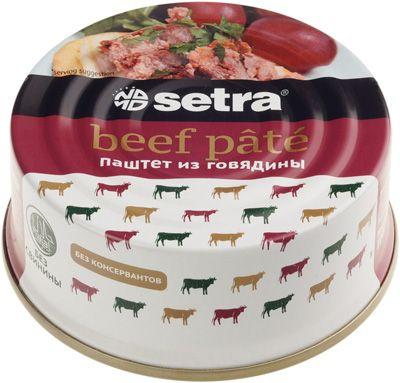 Паштет из говядины 100г Setra