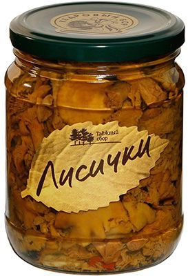 Лисички маринованные 500г грибы консервированные, Кедровый бор