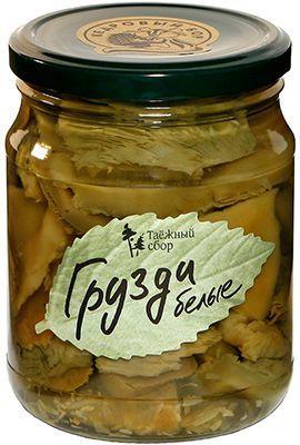 Грузди белые соленые 500г грибы консервированные, Кедровый бор