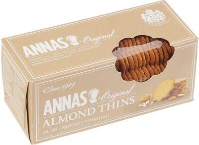 Печенье миндальное оригинальное 150г тонкое, ANNAS, Швеция
