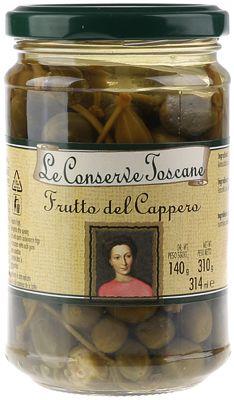 Каперсы на веточке в винном уксусе Toscane 314мл Toscane, Италия