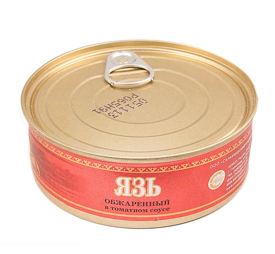Язь обжаренный консервированный 240г в томатном соусе