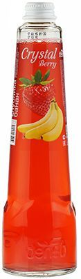 Напиток Crystal Berry Клубника-банан 0,45л среднегазированный, сокосодержащий
