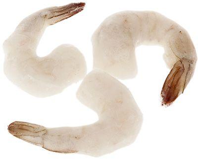 Креветки очищенные с хвостиком 1кг 31/40, сыромороженые, глазировка 20%