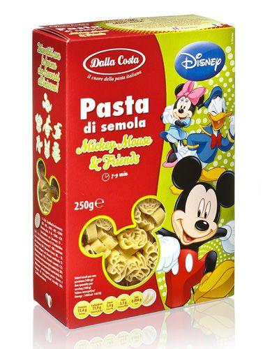 Детская паста Микки Маус Disney 250г фигурные макароны, Dalla Costa