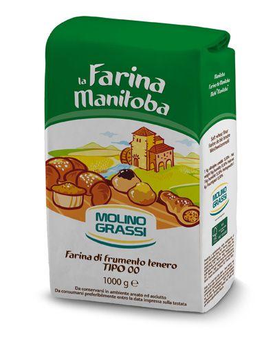 Пшеничная мука 00 Манитоба 1кг из мягких сортов пшеницы, Молино Грасси