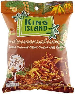 Кокосовые чипсы в кофейной глазури 40г KING ISLAND