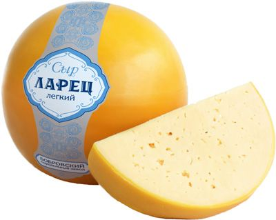 Сыр Ларец лёгкий ~ 1кг шар, 30% жирность, Россия