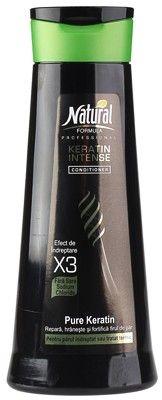 Кондиционер для волос с интенсивным кератином 400мл Natural Formula, Израиль