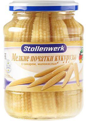 Початки кукурузы консервированные 370мл мелкие, малокислые, Штолленверк, Германия