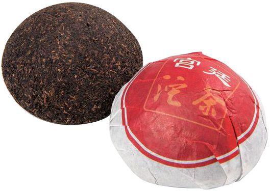 Чай Шу Пуэр Гунтин 100г чай Пуэр, точа. Китай. Менхай Байлянь 2013г
