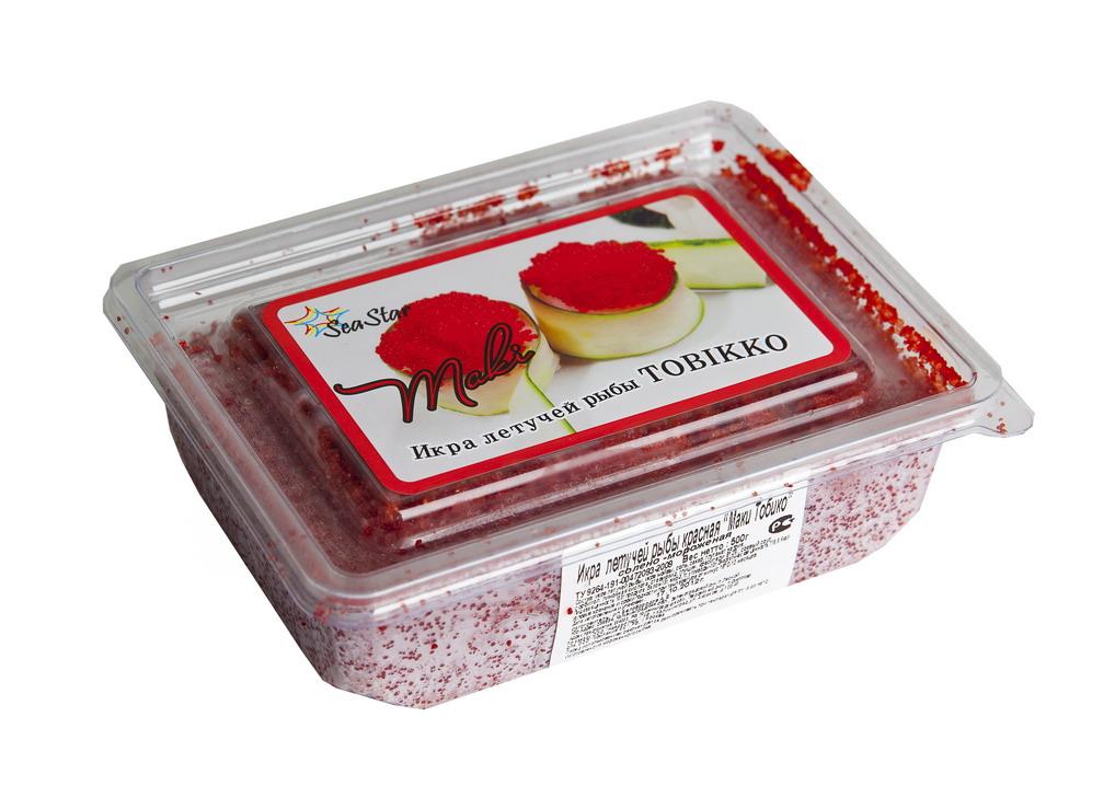 Икра летучей рыбы красная 500г Тобико Маки, замороженная