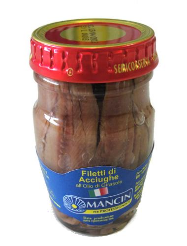 Анчоусы филе в подсолнечном масле, 78г Манчин