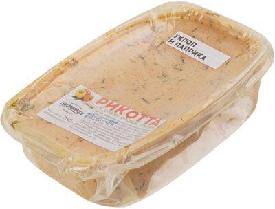 Сыр Рикотта с паприкой и укропом 250г фермерский