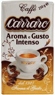 Кофе CARRARO Арома Густо 250г 70% арабика, 30% робуста, молотый, Италия