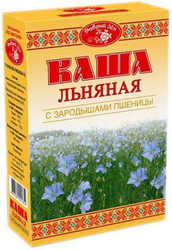 Каша льняная с зародышами пшеницы 400г Добрый лен