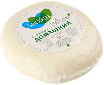 Сыр мягкий Домашний 45% жир., ~350г без растительных жиров и ГМО, Лактика