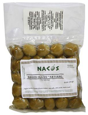 Оливки зеленые200г бочковой рассол, Super Colossal, Nacos